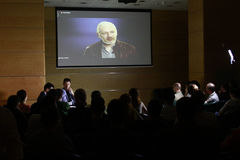 Julian Assange conference Stock Image