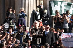 Julian Assange in London Stock Photo