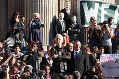 Julian Assange a Londra Fotografia Stock