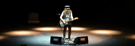 Julian Cope (English rock musician, author, musicologist and cultural commentator). BARCELONA - MAY 29: Julian Cope (English rock musician, author, musicologist Royalty Free Stock Photo