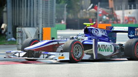 Julian Leal racing in Singapore GP2 2012 Royalty Free Stock Photography