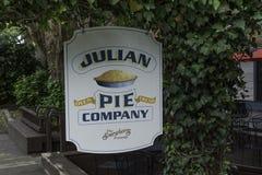 Julian Pie Company Sign royaltyfri fotografi