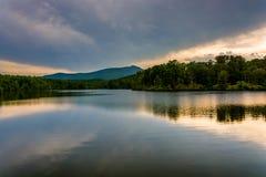 Julian Price Lake, along the Blue Ridge Parkway in North Carolin Stock Images