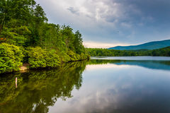 Julian Price Lake, along the Blue Ridge Parkway in North Carolin Stock Image