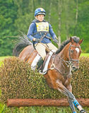 Julian Stiller riding for USA. Julian Stiller riding in the cross country CCI 2*for the United States at Blair Castle International Horse Trial held on 25th Royalty Free Stock Image