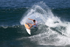 Julian Wilson surfing in the Triple Crown Hawaii Stock Photography