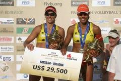 Juliana DA Silva en Felibersta Larissa Fransman Royalty-vrije Stock Fotografie