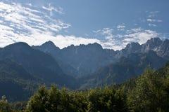 Julianische Alpen in Slowenien Stockbilder