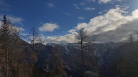 Julianische Alpen von Vrsic-Durchlauf stockbild