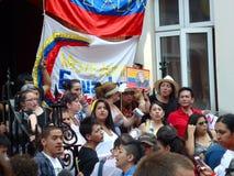 Julianische Assange Protestierender Lizenzfreies Stockbild