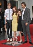 Julianne Moore & Bart Freundlich & Cal Freundlich & Liv Freundlich Royalty Free Stock Photo