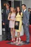 Julianne Moore & Chloe Grace Moretz & Joseph Gordon-Levitt & Jay Roach Fotografie Stock