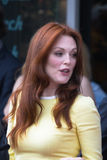 Julianne Moore and John Blake at the Hollywood Walk of Fame Cer Royalty Free Stock Image