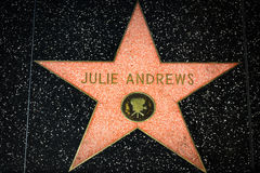 Julie Andrews Star on the Hollywood Walk of Fame Stock Photos