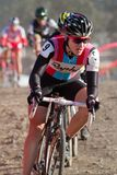 Julie Krasniak - Pro Woman Cyclocross Racer Stock Photos