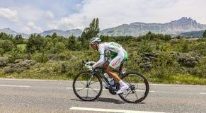 骑自行车者Julien西蒙 库存照片