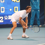 Julien Benneteau (FRA), tennis player. Julien Benneteau (FRA) during men doubles semi-final match at the China Open Tennis Tournament 2009. He played with Jeremy Stock Photos