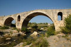 Julien bridge in Bonnieux in Provence. France, le Pont Julien in Bonnieux in Provence Royalty Free Stock Photo
