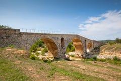 Julien bridge in Provence, France. Old roman bridge Julien pont in Provence, France Stock Photo