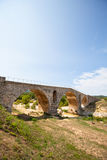 Julien bridge in Provence, France. Old roman bridge Julien pont in Provence, France Royalty Free Stock Photography