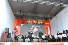 Julien Dassen exécute à la célébration de Victory Day à Moscou Photo stock