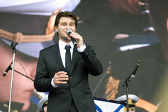 Julien Dassen exécute à la célébration de Victory Day à Moscou Images stock