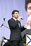 Julien Dassin performs at Victory Day celebration in Moscow Royalty Free Stock Photo