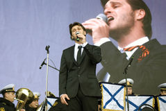 Julien Dassen performs at Victory Day celebration in Moscow Royalty Free Stock Image