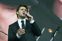 Julien Dassen performs at Victory Day celebration in Moscow Royalty Free Stock Images