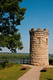 Julien Dubuque's Monument. On the banks of the Mississippi River in Dubuque, Iowa Stock Image
