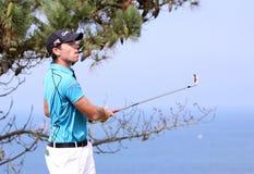 Julien Guerrier au défi 2013 de golf de Pleneuf Val Andre Images libres de droits