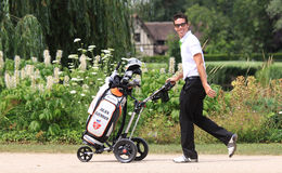 Julien Guerrier at Le Vaudreuil golf challenge, France Royalty Free Stock Photos