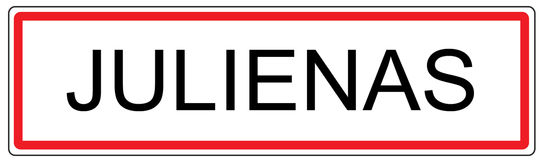 Julienas city traffic sign illustration in France Royalty Free Stock Photography
