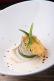 Julienne гриба с белыми рыбами Стоковые Изображения