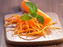 Julienne морковей стоковые фотографии rf