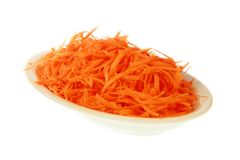 Julienne carrots salad Royalty Free Stock Photos