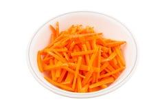 Julienne Style Cut Carrot II Foto de archivo libre de regalías