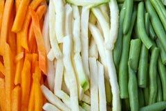 Julienne vegetables Stock Images