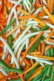 Julienne vegetables Stock Image