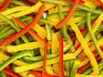 Julienned vegetables Stock Image