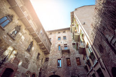 Juliet balcony area in Verona Royalty Free Stock Photos