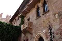 Juliet balcony in Verona, Italy Stock Image