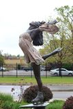 Figure Skater sculpture at the Olympic Training Center Colorado. `The Juliet,` figure skater sculpture, is a tribute to and was unveiled by Olympic figure royalty free stock photo