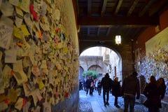 Juliet House Verona, Italie Image libre de droits