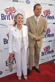 Juliet Mills u. Maxwell Caulfield Lizenzfreie Stockfotos