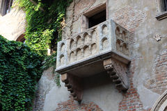 Juliet's balcony, Verona. The famous Juliet's balcony in Verona, Italy Stock Image