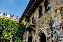 Juliet`s balcony in Verona, Italy Stock Photo