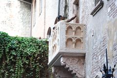Juliet-` s Balkon in Verona, Italien stockfoto