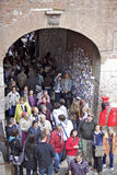 вилла туристов juliet s толпы capulet Стоковые Фото