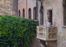 Juliet's house. In Verona - famous place between the tourists Royalty Free Stock Photography